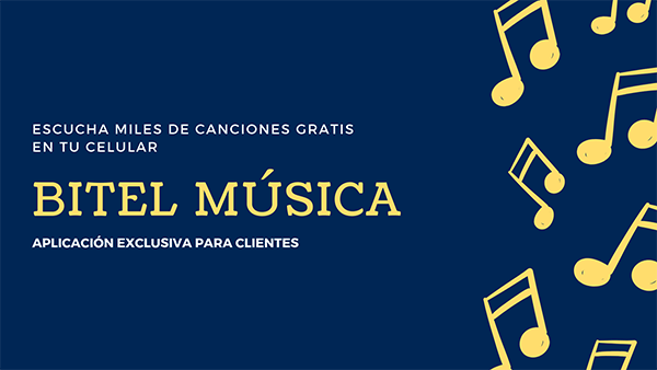 bitel música gratis 2018-2019
