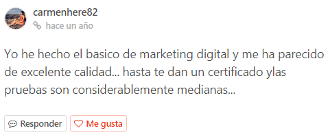 opiniones del ccurso de marketing digital