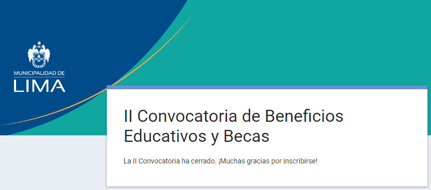 becas lima SUPERATE LIMA 2019