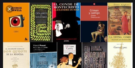 colección de obras literarias mundiales
